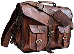 15″ Jaald Mens Genuine Leather Messanger Bag for Laptop Bag shoulder bag