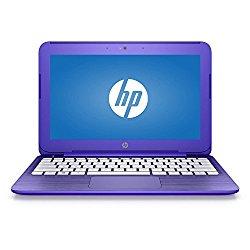 2017 HP Stream 11 11.6 inch Premium Flagship Laptop (Intel Celeron N3060 1.6GHz, 4GB RAM, 32GB Solid State Drive, Wifi, Windows 10 Home) Violet (Certified Refurbished)