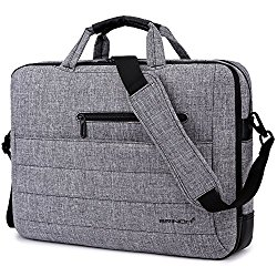 BRINCH New Style 17.3 Inch Nylon Shockproof Carry Laptop Case Messenger Bag For 17 – 17.3 Inch Laptop / Notebook / MacBook /Ultrabook/Chromebook with Shoulder Strap Handles and Various Pockets (Grey)