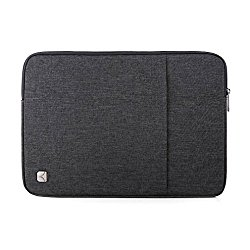CAISON 14 inch Classic Comfort Laptop Sleeve Case Water-Resistant Protector Cover Bag Pouch For 14″ Notebook Computers / 13.5″ Microsoft Surface Book (Dark Grey)