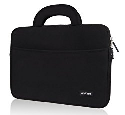 Chromebook Case, amCase 11.6 to 12 inch Sleeve/Case for Acer Chromebook 11, C720, C720P, C740/ HP Stream 11 / Samsung Chromebook 2 /Macbook 12/Notebook Laptop Protective Neoprene with Handle (BLACK)