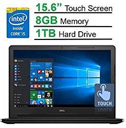 Dell Inspiron 15.6″ Touchscreen HD I3558-5501BLK Laptop (2017 Model), Intel Core i5-5200U Processor, 8GB Memory, 1TB HDD, HDMI, Bluetooth, DVD-RW, WiFi, HD Webcam, Windows 10 -MaxxAudio