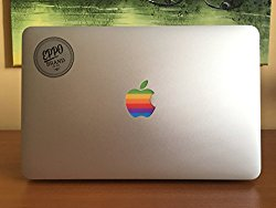 Design Art Apple Old Retro Rainbow Multicolour Logo Eppo Brand Sticker Decal For 11″ 13″ 15″ inch Macbook pro/air laptop with glowing logo – Perfect Fit