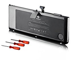 Egoway New Laptop Battery for Apple Macbook Pro 15″ inch A1321 A1286 (Only for Mid 2009, Early / Late 2010) with Three Free Screwdrivers – [Li-Polymer 10.95V 7200mAh/79Wh]