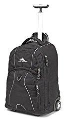 High Sierra Freewheel Wheeled Book Bag Backpack, Black