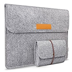 Inateck 12 Inch Macbook Case Tablet Sleeve for Apple Macbook 12-Inch with Retina Display, Gray