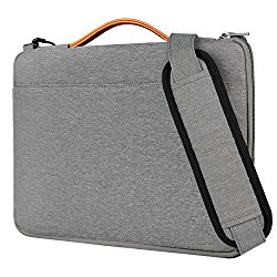 Inateck 15.6 Inch Laptop Shoulder Bag, Spill-resistant Laptop Sleeve Case for 15-15.6″ Dell Lenovo HP Chromebook ASUS Acer Toshiba, Gray