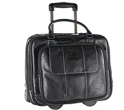 Kenneth Cole Reaction Rolling Laptop Bag, Black