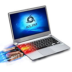 KLIM Cool + Laptop cooler Laptop in metal – The most powerful – Air vacum USB for immediate cooling – Cooling pad to solve overheating