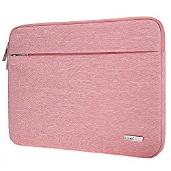 Lacdo Water Repellent Sleeve for 15-15.6 Inch Laptop, Pink