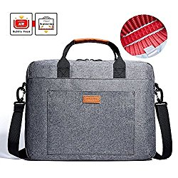 Laptop Bag, KALIDI 15.6 Inch Laptop Briefcase Messenger Bag for Dell Alienware / Macbook / Lenovo / HP , Travelling, Business, College and Office(Gray)