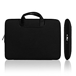 Lavievert Soft Neoprene(Water Resistance) Handle Bag Briefcase Handbag with Two Extra Pockets for 13″ MacBook Pro, MacBook Air, MacBook Pro with Retina and Most Popular 13-13.3 Inch Laptop – Black