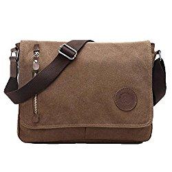 Life Boost Vintage Canvas Satchel Messenger Laptop Shoulder Crossbody Sling Bag