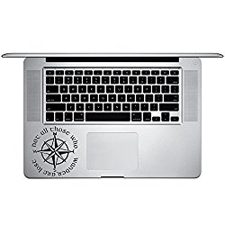 Not All Those Who Wander Are Lost LOTR Compass Vinyl Sticker Laptop Keyboard Inside Corner iPhone Cell Decal (3.5″ Wide)