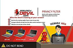 "PrivacyDevil PD22 Privacy Screen for 22"" Monitors, Filter for 22""Display"