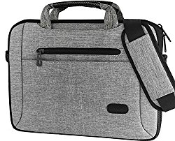 ProCase 14 – 15.6 Inch Laptop Messenger Shoulder Bag Briefcase for 15″ Macbook Pro 2016, 14″ 15″ Lenovo Asus Acer Toshiba Dell HP Ultrabook Notebook Chromebook with Shoulder Strap and Handle -Grey