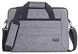 ProCase 14 – 15.6 Inch Laptop Messenger Shoulder Bag for 15″ Macbook Pro and Most 14″ 15″ Acer Asus Dell HP Lenovo Sony Toshiba Ultrabook Chromebook Notebook with Shoulder Strap Handle -Grey