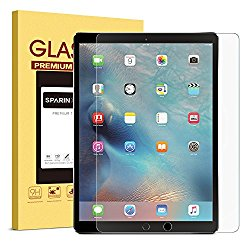 SPARIN iPad Pro 12.9 Screen Protector, [Multi-Touch Compatible] [.3mm / 2.5D Round Edge] [Tempered Glass] [Bubble-Free] Screen Protector for iPad Pro 12.9″