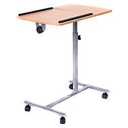 Tangkula Adjustable Laptop Notebook Desk Table Stand Holder Swivel Home Office Wheels