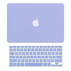 TOP CASE – 2 in 1 Bundle Deal Air 13-Inch Rubberized Hard Case Cover and Matching Color Keyboard Cover for Macbook Air 13″ (A1369 and A1466) with TopCase Mouse Pad – Serenity Blue