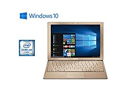 Samsung Galaxy TabPro S Convertible 2-in-1 Laptop / Tablet, 12″ FHD+ Touchscreen – Intel Core m3-6Y30 – 8GB DDR3 Memory – 256GB SSD – Windows 10 – Bluetooth – Webcam – Gold (Keyboard Included)