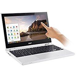 2017 Newest Acer Premium R11 11.6″ Convertible 2-in-1 HD IPS Touchscreen Chromebook – Intel Quad-Core Celeron N3160 1.6GHz, 4GB RAM, 32GB SSD, Bluetooth, HD Webcam, HDMI, USB 3.0, Chrome OS – White