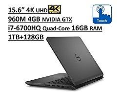 Dell Inspiron 7000 i7559 15.6″ UHD (3840×2160) 4K TouchScreen Gaming Laptop: Intel Quad-Core i7-6700HQ   16GB RAM   NVIDIA GTX 960M 4GB   1TB + 128GB SSD   Backlit Keyboard   Windows 10 – Grey