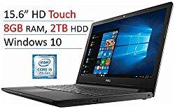 2018 Newest Dell Premium Inspiron 15.6'' Touchscreen HD Widescreen Laptop PC , Intel i5-7200U, 8GB DDR4, 2TB HDD, Bluetooth, HDMI, MaxxAudio, DVD +/- RW, Intel HD Graphics 620, Windows 10 – Black