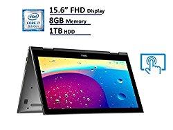 2018 Dell Inspiron 15 5000 5579 2-in-1 Laptop, 15.6″ Full HD (1920×1080) IPS Touchscreen, Intel 8th Gen Quad-Core i7-8550U, 8GB DDR4, 1TB HDD, IR Camera Face Recognition, Windows 10 64-bit