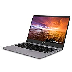 "ASUS ZenBook Ultra-Slim Laptop – 14"" FHD IPS WideView Display,  Intel Core i7-8550U CPU, 8GB DDR4, 128GB SSD + 1TB HDD, Windows 10, Backlit keyboard, 3.1lbs, Quartz Grey – UX410UA-AS74"