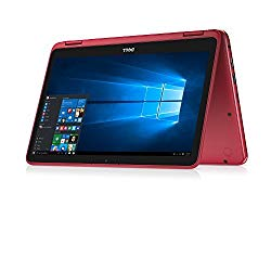 Dell Inspiron Business 2 in 1 Laptop PC 11.6″ Touchscreen Intel Pentium N3710 Quad-Core Processor 4GB RAM 500GB HDD Wifi HDMI Bluetooth Webcam Windows 10-Red