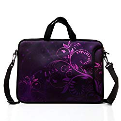 15.6-Inch Laptop Shoulder Bag Case Sleeve With Handle and extra pocket For 14″ 14.1″ 15″ 15.6 Inch MacBook/Ultrabook/HP/Acer/Asus/ Dell/Lenovo/Thinkpad (Purple)