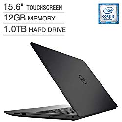 2018 Dell Inspiron 15 5000 Flagship Premium 15.6″ Full HD Touchscreen Backlit Keyboard Laptop, Intel Core i5-8250U Quad-Core, 12GB DDR4, 1TB HDD, DVD-RW, Bluetooth 4.2, Windows 10, Black