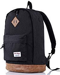 936Plus College School Backpack Travel Rucksack | Fits 15.6″ Laptop | 18″x12″x6″ | Black