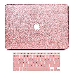 B BELK MacBook Air 13″ Case,2 In 1 Bling Crystal Smooth Ultra-Slim Light Weight PC Hard Case With Keyboard Cover For MacBook Air 13.3 Inch(A1369/A1466)
