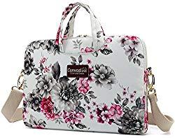 Canvaslove 15 inch Waterproof Laptop Shoulder Messenger Bag Case for 14 Inch 15.6 inch Laptop (Chrysanthemum)