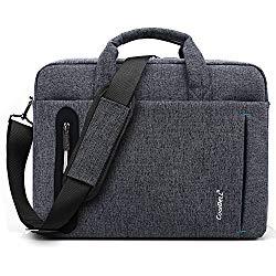 CoolBELL 15.6 inch Laptop Bag Messenger Bag Hand Bag Multi-Compartment Briefcase Oxford Nylon Shoulder Bag for Laptop/Ultrabook / HP/Acer / MacBook/Asus / Lenovo/Men/Women (New Grey)