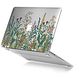 GMYLE Garden Flower Macbook Air 13 inch case Crystal Plastic Scratch Guard Cover for Macbook Air 13 inch (Model: A1369 & A1466)