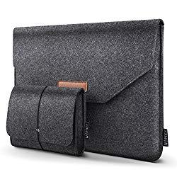 HOMIEE 13-13.3 Inch Laptop Sleeve Portable MacBook Case for MacBook Pro 2016-2018, MacBook Pro Retina, MacBook Air, 12.9″ iPad Pro, Dell XPS, Lenovo/HP/Chromebook Ultra Slim Notebook, Dark Gray