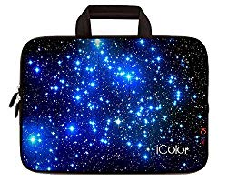 iColor Starry Ultra-Portable Neoprene Carrying Protective Case Sleeve Briefcase Pouch Bag Tote w/ Handle for 11.6″ 12″ Inch Netbook / Laptop (IHB12-003)