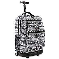 J World New York Sundance Laptop Rolling Backpack, Tribal