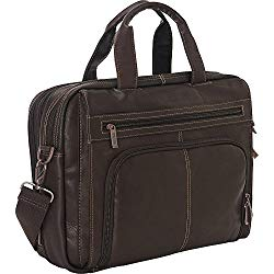 Kenneth Cole Reaction Colombian Leather Laptop Portfolio – EXCLUSIVE – Brown