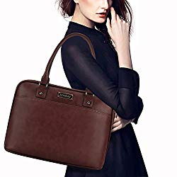 Laptop Bag for Women,15.6 Inch Laptop Tote Bag for Bussiness Work,Most Convenient Full Open Zipper Design[L0009/Coffee]