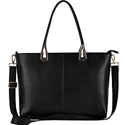 Laptop Bag,15.6 Inch Laptop Tote Bag,Large Tote Bag Handmade Metal Handle[L0017/black]