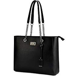 Laptop Tote, Gorgeous PU Leather Laptop Tote Bag Fits Up to 15.6 in Classy & Professional Design for Women