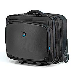 Mobile Edge Alienware Vindicator Rolling Laptop Case 13 Inch to 17 Inch Black, for Men, Women, Students, Gamers AWVRC1