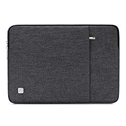 NIDOO 14 Inch Laptop Sleeve Water-Resistant Computer Case Portable Carrying Bag for 14″ Notebook / 14″ Lenovo ThinkPad E480 / Yoga 920 / 13.5″ Microsoft Surface Book, Dark Grey