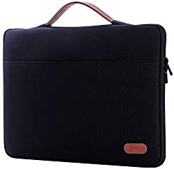 ProCase 13-13.5 Inch Sleeve Case Cover for Macbook Pro 2018 2017 2016/ Pro with Retina/Surface Laptop 2017 /Book, Laptop Slim Bag for 13″ 13.3″ Lenovo Dell Toshiba HP ASUS Acer Chromebook -Black