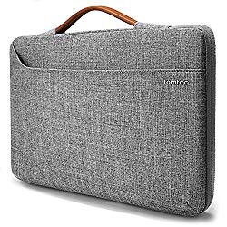tomtoc 14 inch Laptop Sleeve Handle Zipper Case Compatible with 15″ New MacBook Pro Touch Bar Late 2016-2018 A1990 A1707 | 14″ ThinkPad T-Series / X1 Yoga, Briefcase with Accessory Pocket