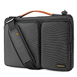 "tomtoc 15 Inch Laptop Shoulder Bag with CornerArmor Patent Accessory Pocket, 360° Protective Sleeve Fit for 15"" Old MacBook Pro Retina 